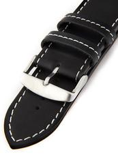 d2b8103c5 Unisex kožený černý řemínek k hodinkám H-5-B