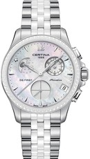 Certina DS First Lady Quartz Precidrive Chronograph Moon Phase C030.250.11.106.00