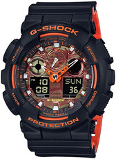 Casio G-Shock Original GA-100BR-1AER Bright Orange Analog-Digital Series