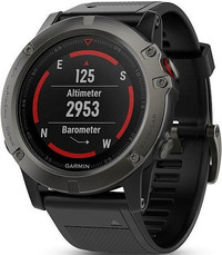 Garmin Fenix 5X Sapphire Gray Optic, Black band
