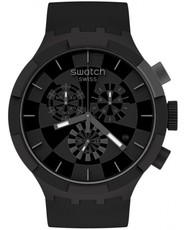 Swatch Checkpoint Black Chronograph SB02B400