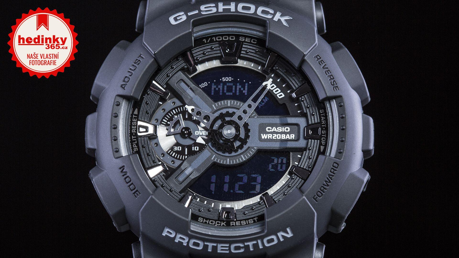 Casio G-Shock Original GA-110-1BER. Pánske hodinky - živicový remienok c777b937792