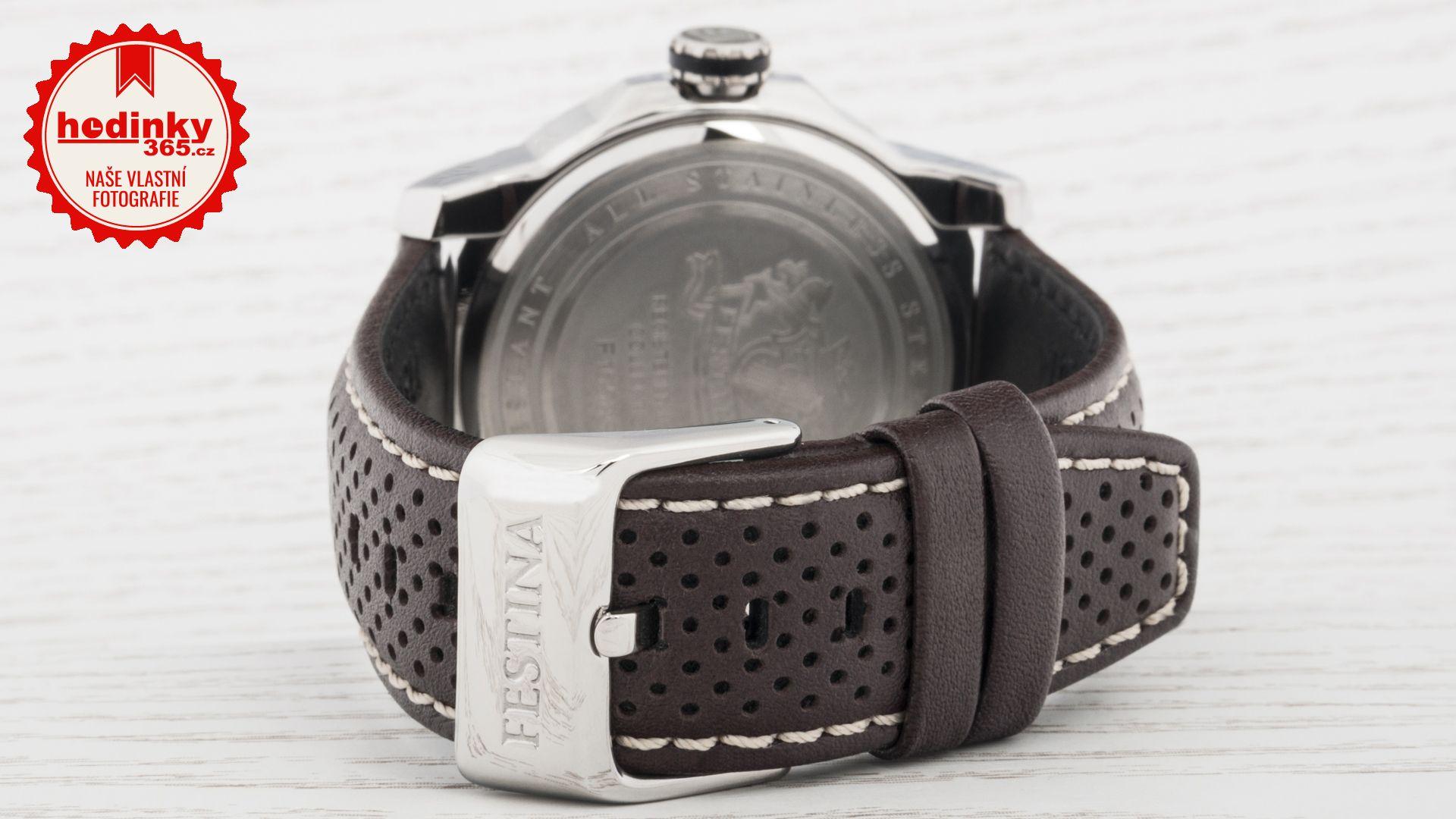 Festina Multifunction 16585 A. Pánske hodinky - kožený remienok ff5172da2d9
