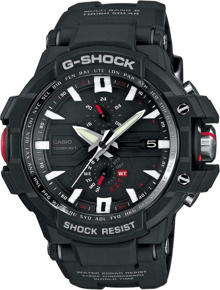 33641cbd9 Casio G-Shock Gravitymaster GW-A1000-1AER. Pánske hodinky - živicový  remienok, pryskyřice puzdro, minerálne sklíčko. Všetky technické parametre  nájdete ...