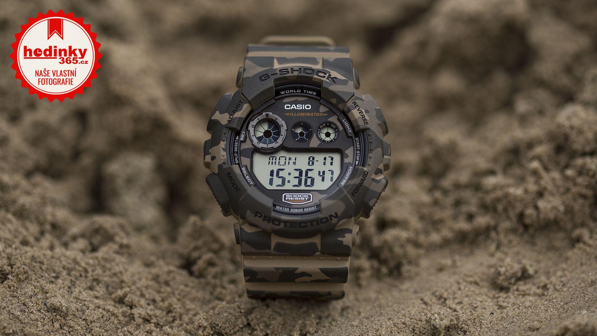 Casio G-Shock Original GD-120CM-5ER Camouflage Series. Pánske hodinky -  živicový remienok e0db11a251d