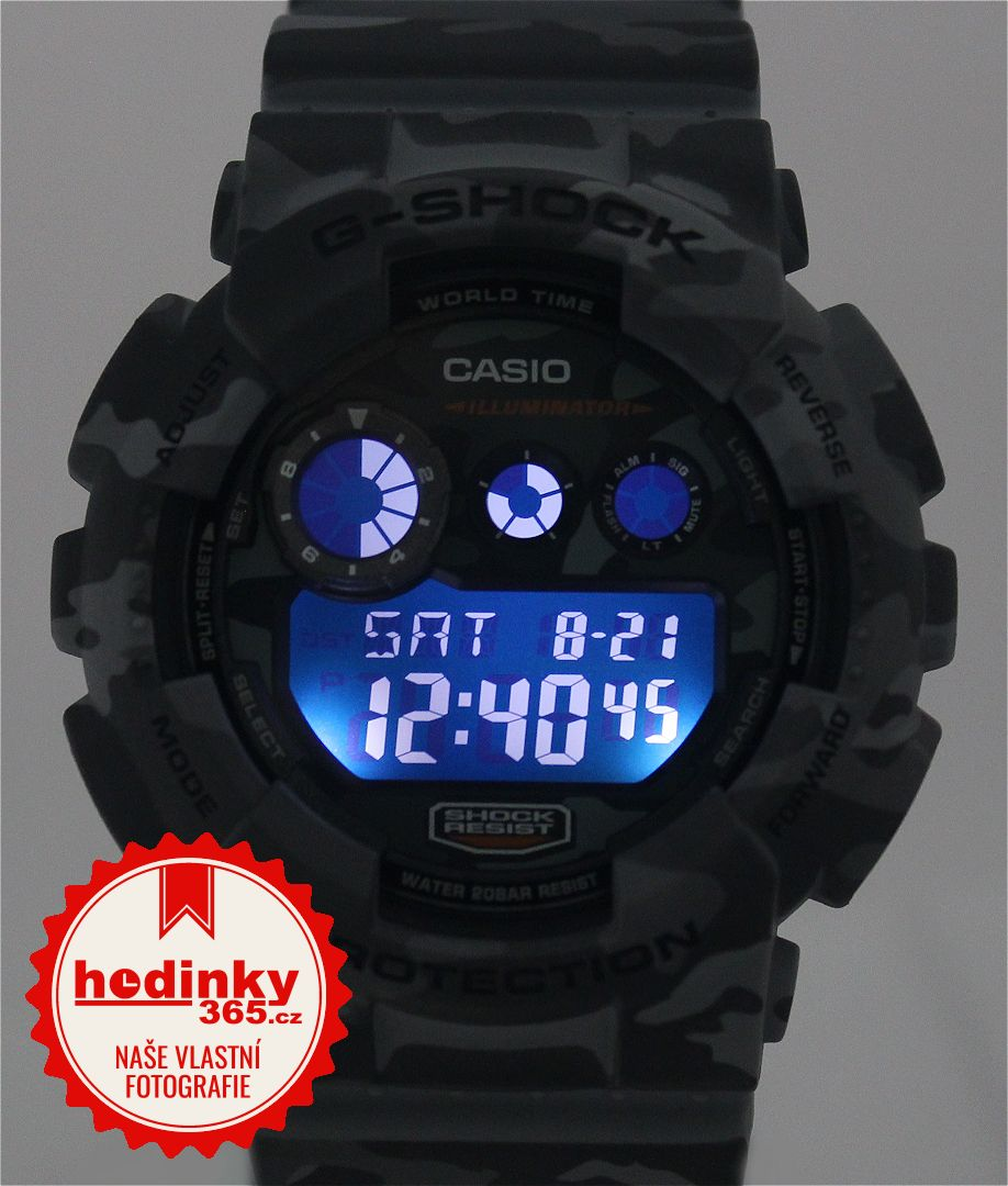 Casio G-Shock Original GD-120CM-8ER Camouflage Series. Pánske hodinky -  živicový remienok 1c875bd272b