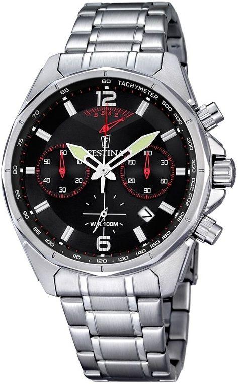 b5d77ba33 Festina Chronograph 6835/2. Pánske hodinky - ocelový remienok, ocel puzdro,  minerálne sklíčko. Všetky technické parametre nájdete nižšie