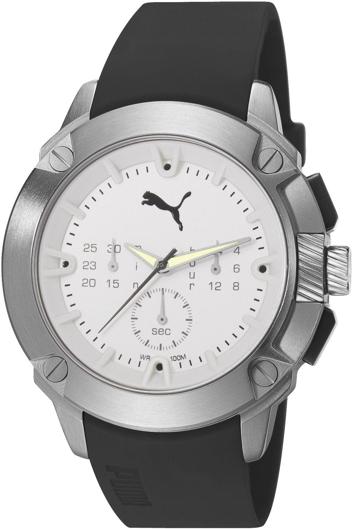 cfeb832084cf7 Puma Hybrid Chrono Silver PU103711002. Pánske hodinky - pryžový remienok,  ocel puzdro, minerálne sklíčko. Všetky technické parametre nájdete nižšie