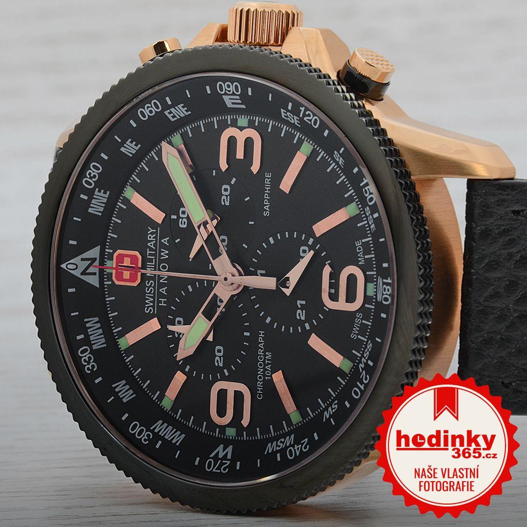 Swiss Military Hanowa 4224.09.007. Pánske hodinky - kožený remienok 1f383709547