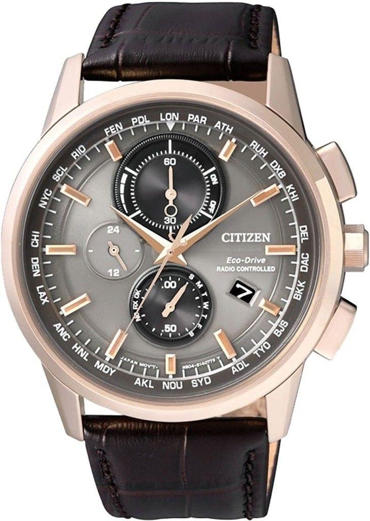 Citizen Radio Controlled AT8113-12H. Pánske hodinky - kožený remienok b4c77cb1c5d