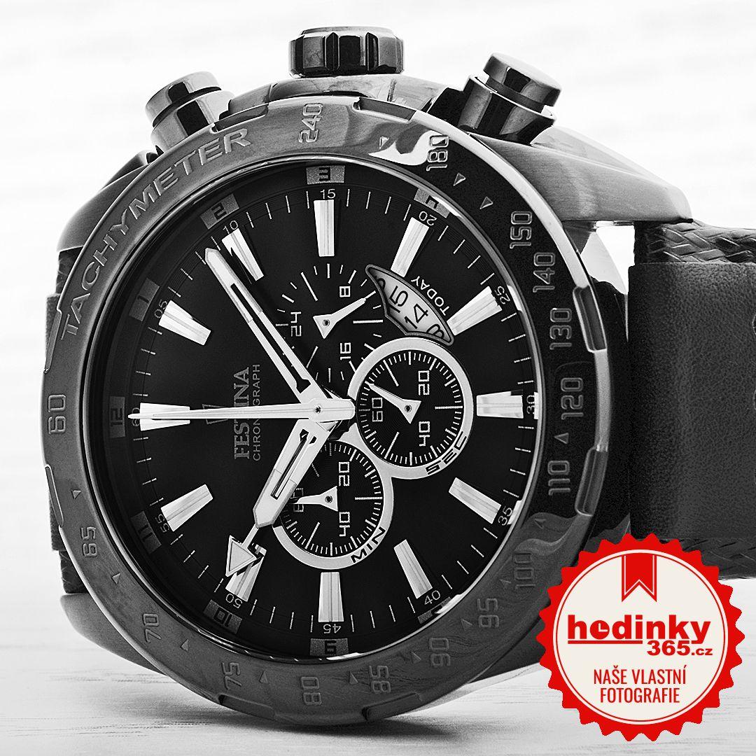 Festina Prestige Chronograph 16901 1. Pánske hodinky - kožený remienok e1bfb904210