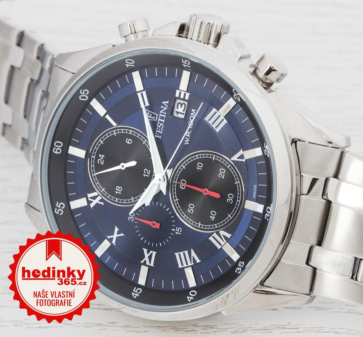e9d49fa3f Festina Chronograph 6853/2. Pánske hodinky - ocelový remienok, ocel puzdro,  minerálne sklíčko. Všetky technické parametre nájdete nižšie