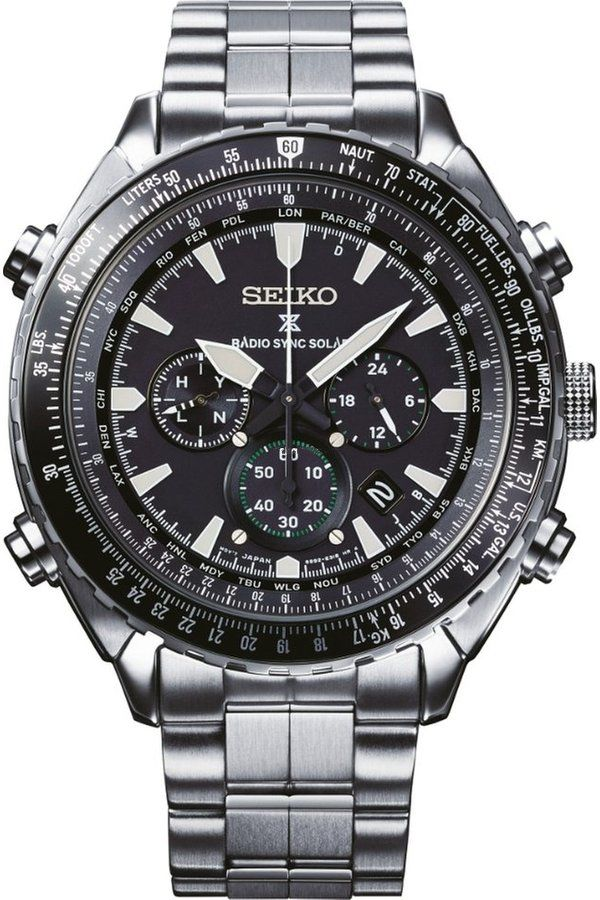 Seiko Prospex Sky Radio Sync Chronograph SSG001P1. Pánske hodinky - ocelový  remienok 6beb50f9e72