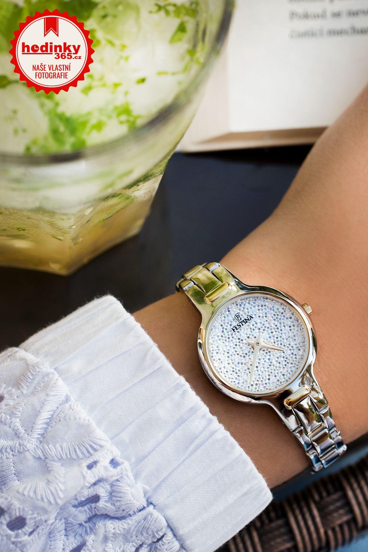 Festina Mademoiselle Swarovski 20380 1. Dámske hodinky - ocelový remienok bab011a9a0d