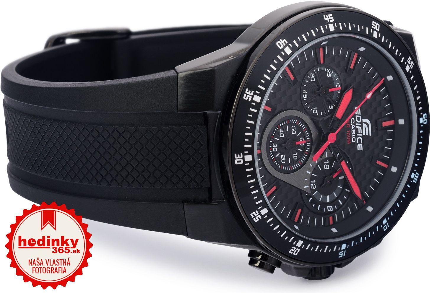 Casio Edifice EF-552PB-1A4VEF. Pánske hodinky - živicový remienok 147a10a2b20