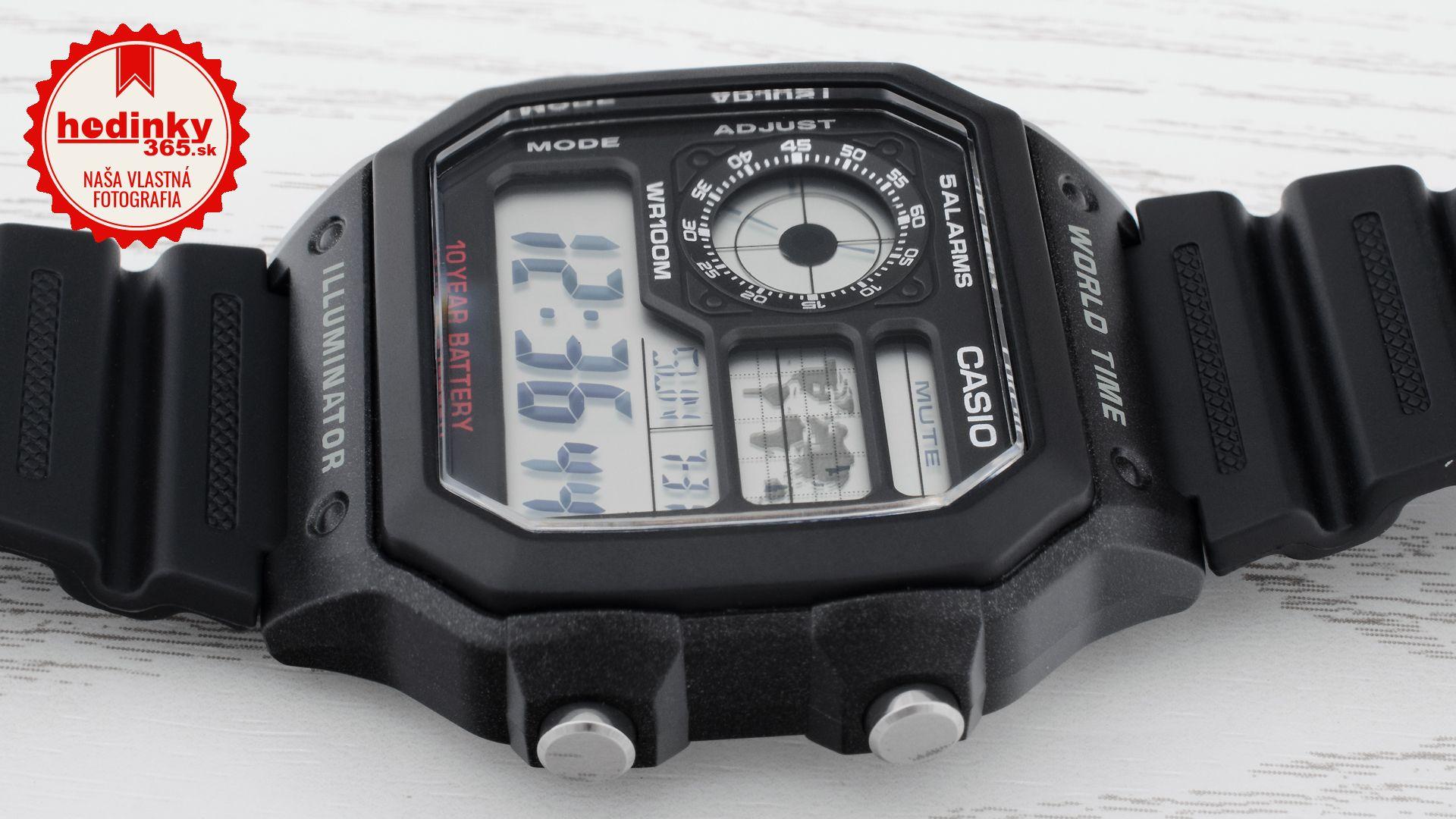 Casio Collection AE-1200WH-1AVEF. Pánske hodinky - živicový remienok bfdb35fcac3
