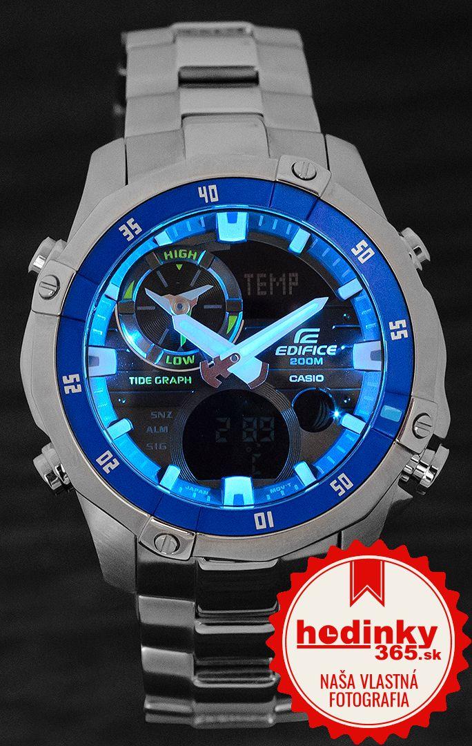 Casio Edifice EMA-100D-1A2VEF. Pánske hodinky - ocelový remienok 21af029e4d7