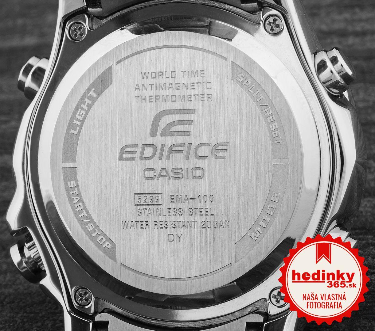 Casio Edifice EMA-100D-2AVUEF. Pánske hodinky - ocelový remienok 61834af8db2