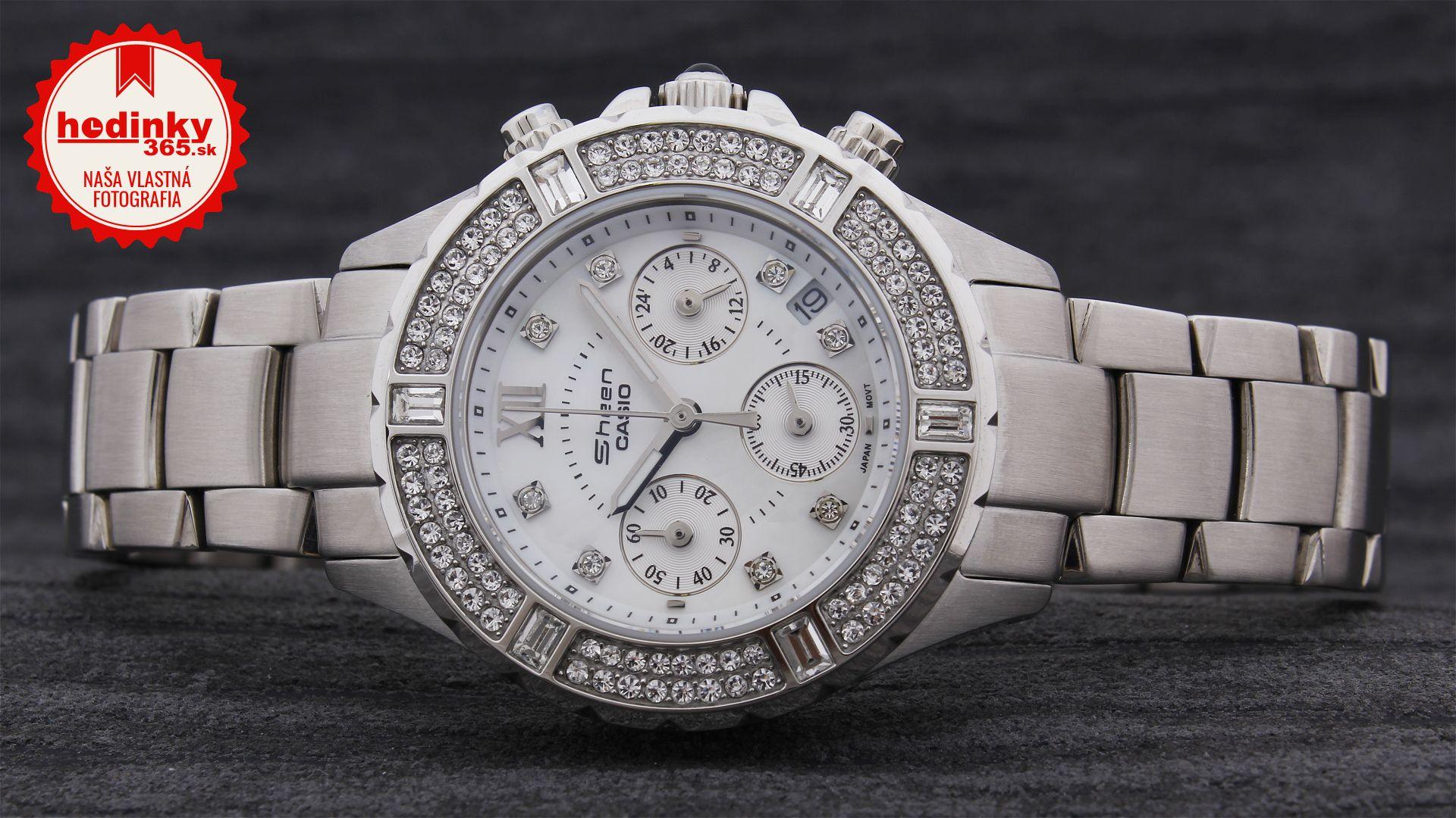 63f18ce77c1 Casio Sheen SHN-5503D-7AEF. Dámske hodinky - ocelový remienok