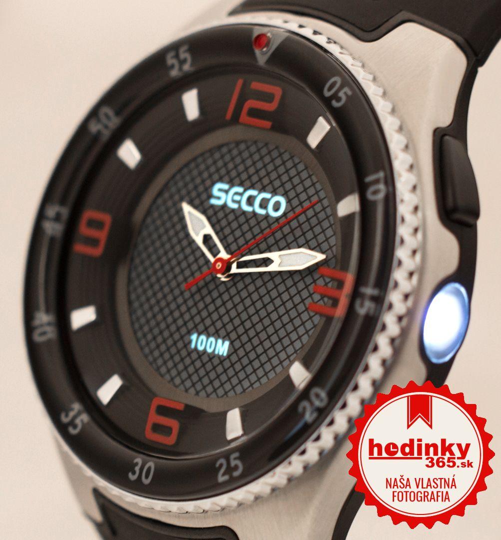 Secco S DQK-007. Pánske hodinky - silikónový remienok 9f96282fd81