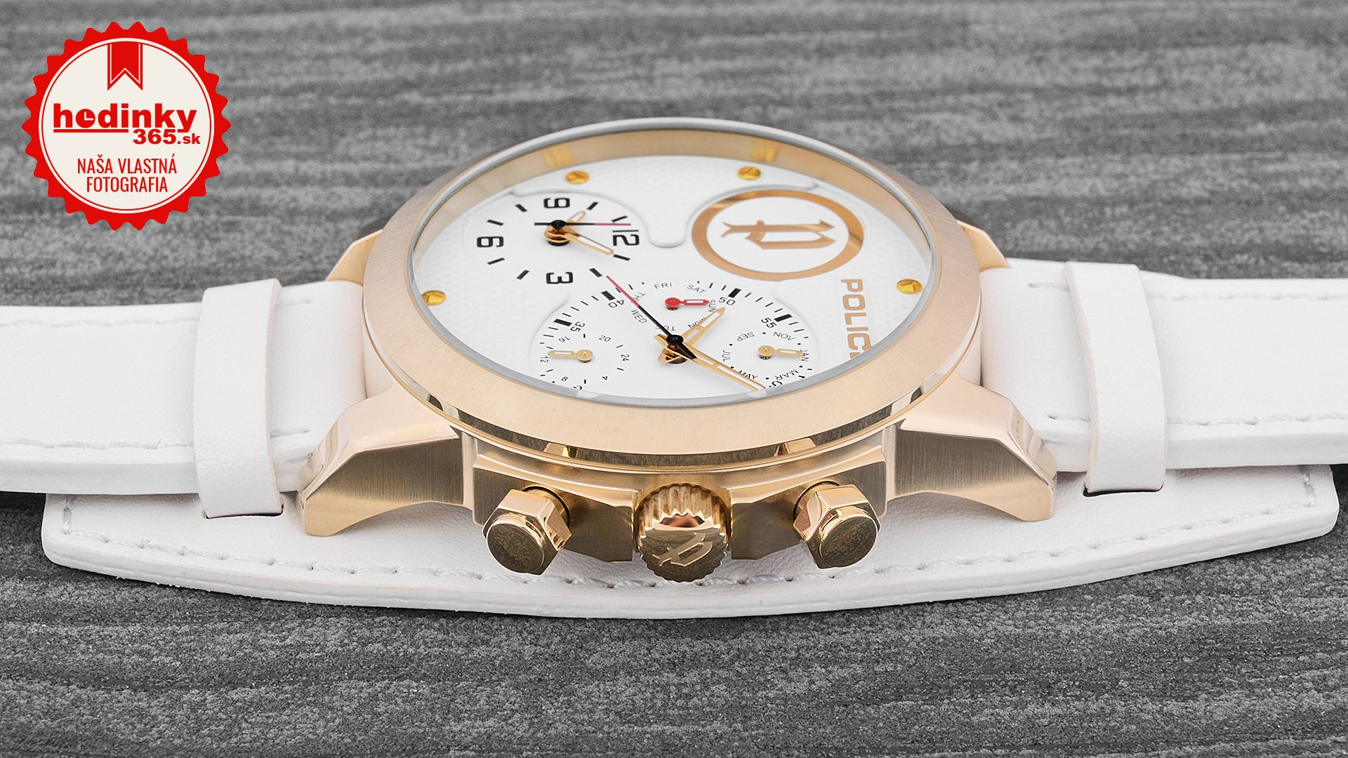 98b9ea7259 Police Anaconda PL14188JSG 01. Pánske hodinky - kožený remienok
