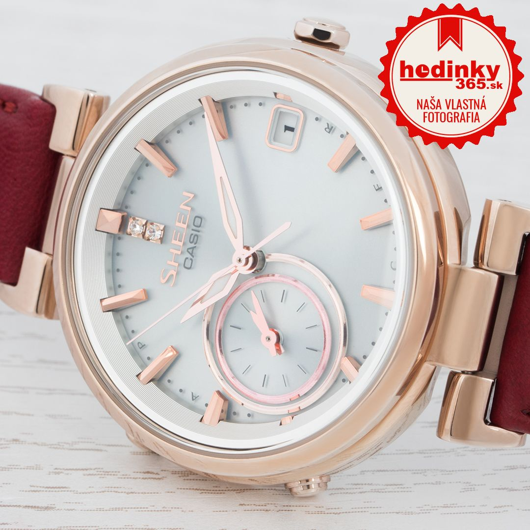 fec73feaa2 Casio Sheen SHB-100CGL-7AER. Dámske hodinky - kožený remienok