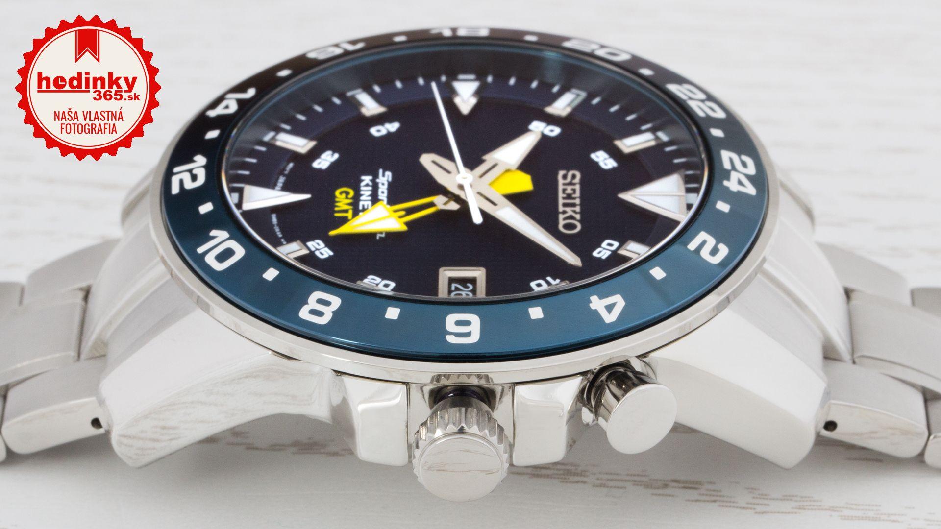 bf6f36e41 Seiko Sportura Kinetic GMT SUN017P1. Pánske hodinky - ocelový remienok,  ocel puzdro, safírové sklíčko. Všetky technické parametre nájdete nižšie