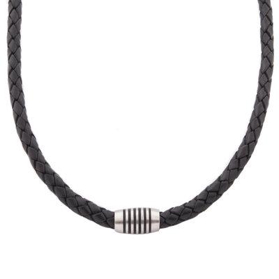 6422b1e3b Unisex kožený náhrdelník Boccia Titanium 0843-03   Hodinky-365.sk